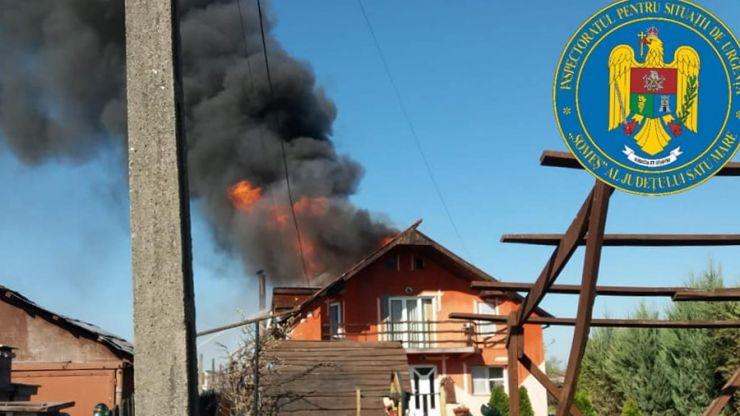 Incendiu la o casă de locuit din Satu Mare