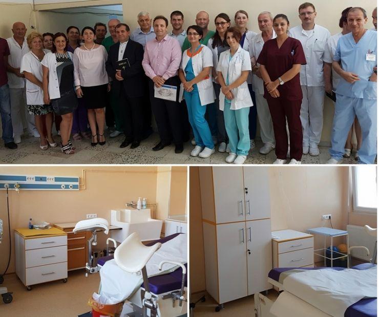 Biserica Penticostală a sponsorizat reabilitarea unei săli de nașteri din incinta Spitalului Județean de Urgență Satu Mare
