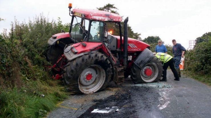 Accident în Ardud provocat de un tractorist fără permis