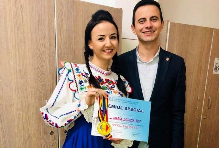 """Lavinia Pop, premiu special la Festivalul Concurs Internațional de Folclor """"Petre Săbădeanu"""""""