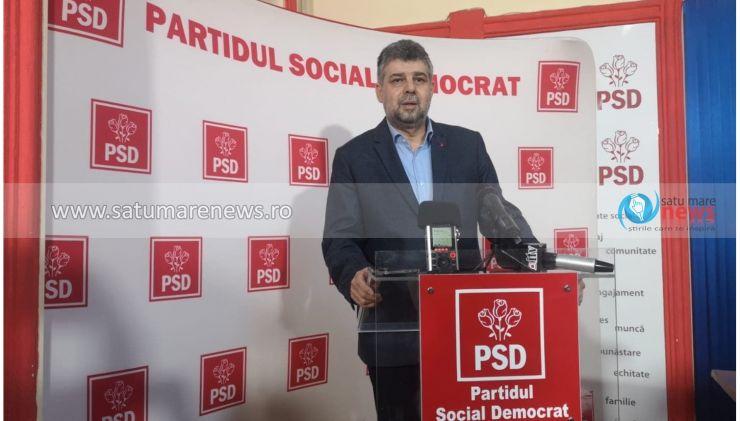 """Marcel Ciolacu, la Satu Mare: """"Organizațiile județene hotărăsc alianțe pentru alegerile locale"""""""