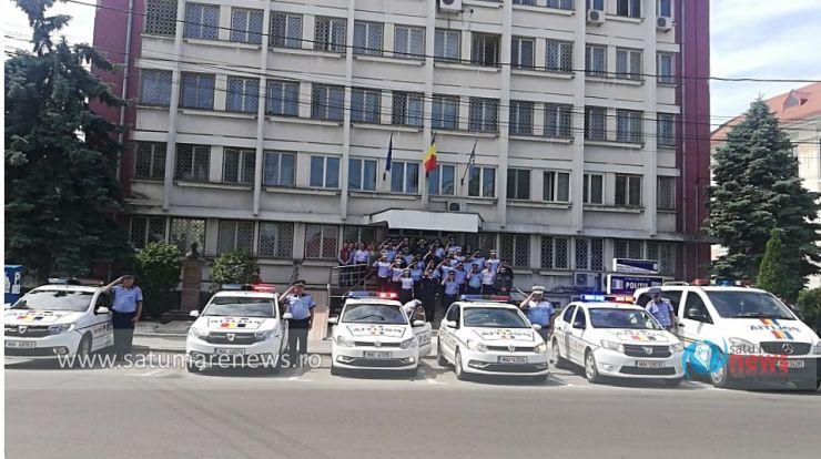 Polițiștii sătmăreni au ținut un moment de reculegere în memoria colegului lor Cristian Amariei, ucis în misiune lângă Timișoara