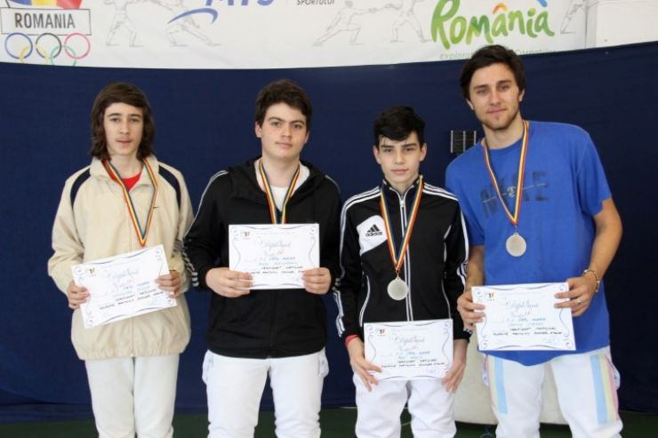 CS Satu Mare a câștigat medaliile de argint la Campionatul Național de floretă juniori