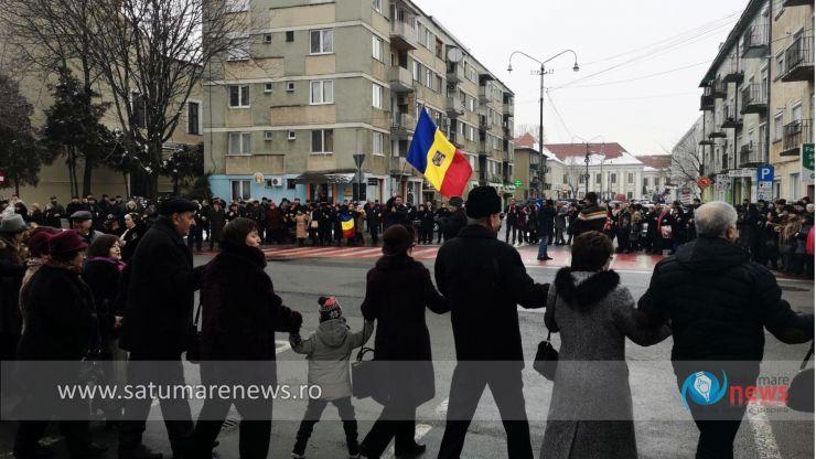 Mica Unire, sărbătorită la Satu Mare, în ciuda vremii mohorâte