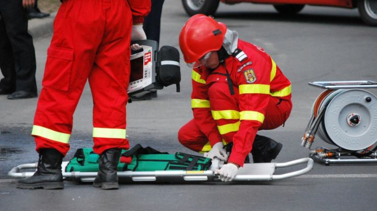 Accident rutier pe bulevardul Lucian Blaga