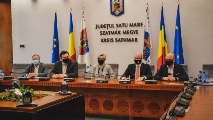 Hegedus Csilla, secretar de stat în Ministerul Investițiilor și Proiectelor Europene, în vizită de lucru în județul Satu Mare