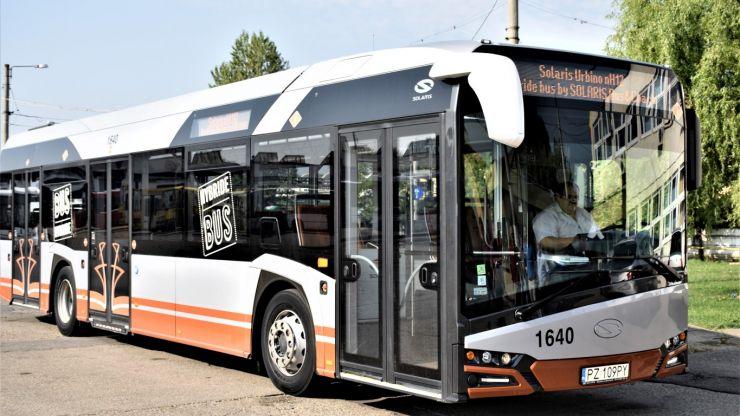 Autobuzul hibrid de la Solaris, prezentat la Satu Mare. Timp de o săptămână, va circula pe mai multe trasee din oraș